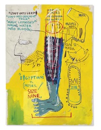 early moses by jean-michel basquiat