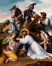 kreuztragung christi mit der heiligen veronika by tiburzio passarotti