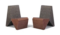 granite chairs (pair) by scott burton