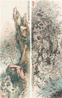 greeting the spring (2 works) by xiao huirong