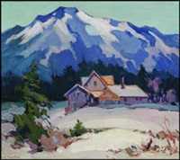 mountain homestead in winter by mildred valley thornton