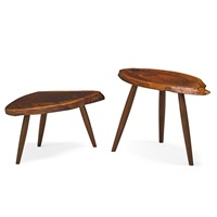 side tables (pair) by mira nakashima-yarnall