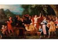 triumphzug des bacchus by louis de caullery