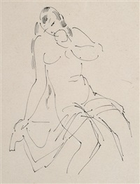 weibliche akte (2 works) by richard ziegler