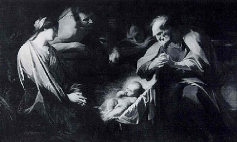 the nativity by jean valentin de boulogne