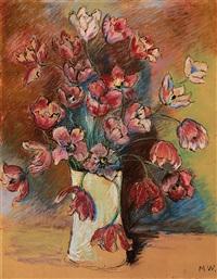 tulpenstrauss in weisser vase by marianne werefkin