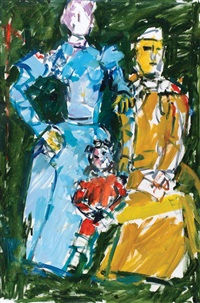 couple with child by pinchas litvinovsky