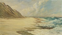 sand dunes and crashing waves by w. francis snow