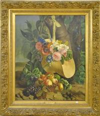 nature morte aux fleurs et aux fruits by augustine vervloet