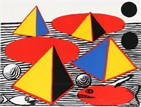 composition in blue, red, yellow and black by alexander calder