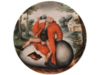 der trinker auf dem ei by pieter brueghel the younger