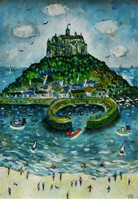 summertime, st. michael's mount by joan gillchrest