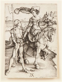 young lady on horseback by albrecht dürer
