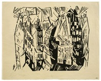 pariser häuser (houses in paris) by lyonel feininger