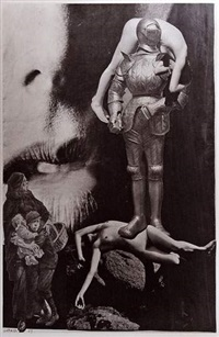 photomontages (various sizes; 2 works) by j. arlaud