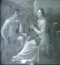 herakles bei der pythia in delphi (?) by eberhard wächter