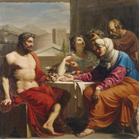 jupiter und merkur bei philemon und baucis by andrea appiani