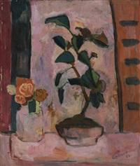 blumen in topf und vase by herbert gelhard