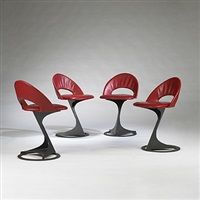 tabourettli theatre chairs (set of 4) by santiago calatrava