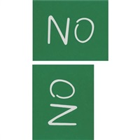 no/oz (pair) by kay rosen