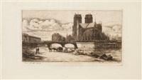l'abside du pont notre-dame-de-paris by charles meryon