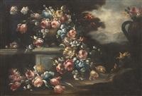 natura morta con rose e paesaggio by anonymous (18)