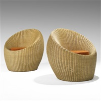 lounge chairs (pair) by isamu kenmochi