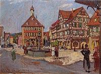 fränkische kleinstadt (rothenburg?) by karl dehoust