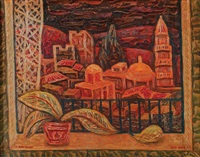 safed landscape by isaac amitai