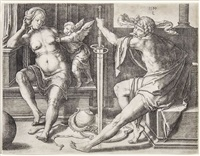 marte, venere and cupid by lucas van leyden