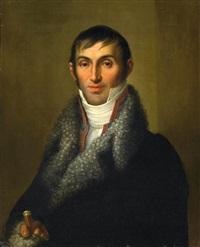 porträt eines jungen herrn in pelz umsäumtem gehrock by friedrich georg weitsch
