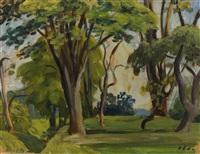landschaft mit bäumen by hans olde