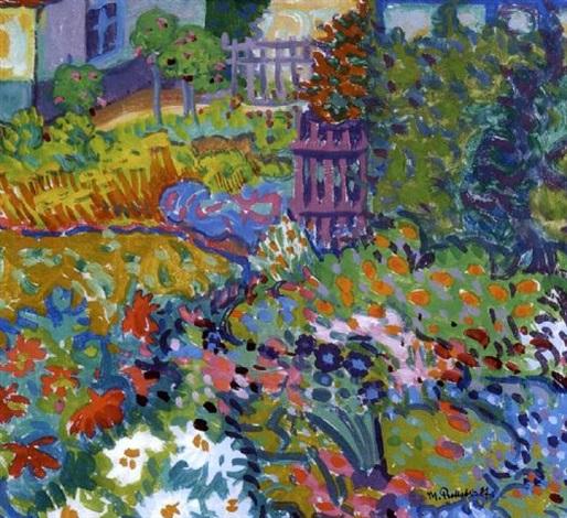 Bilder Blumengarten der blumengarten max pechstein auf artnet