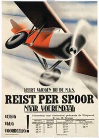 leert vliegen bij de n.l.s. reist per spoor by kees van der laan