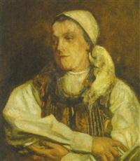portrait einer ungarin by alexander von kubinyi