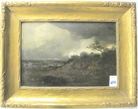 landscape under stormy sky by william blakesley