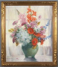 still life with flowers by carle john blenner