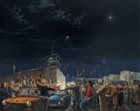 ex oriente lux. die nacht vom 9. november 1989 am grenzübergang prinzenstrasse by matthias koeppel