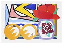 still life with lichtenstein and two oranges by tom wesselmann