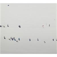 untitled (skiers) (diptych) by walter niedermayr