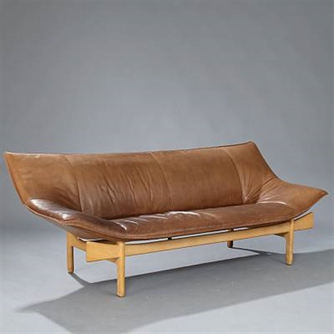 sculptural shaped sofa model l 84 by om design erik marquardsen and takashi okamura