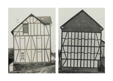 houses in 2 parts by bernd and hilla becher