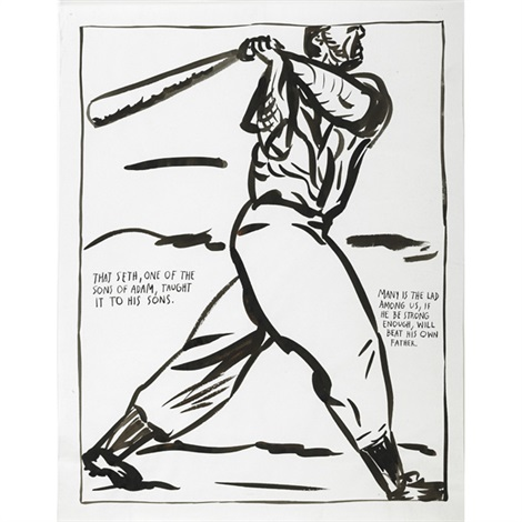 untitled that seth one of the sons of adam taught it to his sons many is the lad among us if he be strong enough will beat his own father by raymond pettibon