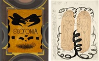 theogonie (portfolio of 16) by georges braque