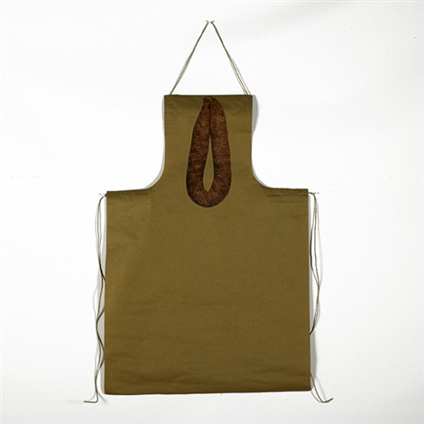 untitled apron and thai pork sausage by rirkrit tiravanija