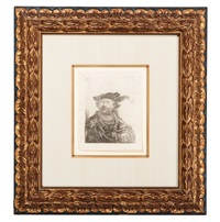 self-portrait with plumed hat by rembrandt van rijn