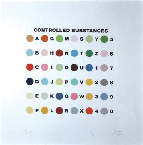 controlled subtances by damien hirst