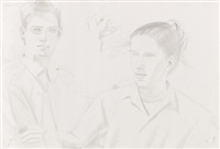 brad and kim by alex katz