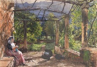 the terrace, majorca by william ewart lockhart