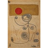 lady with swirls by alexander calder